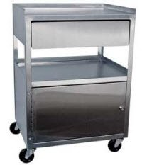1161138 Cart Cabinet S/S w/Drawer 16x21x30 Ea Ideal Medical -MCC21D by Ideal Medical Products