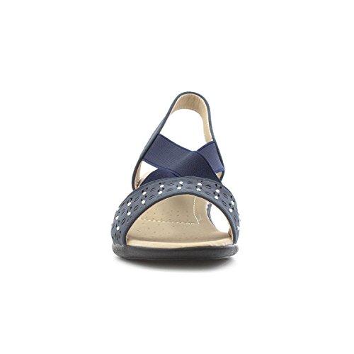 Dr Keller Öffnen Sie Zehe Sandale IM Blau für Frauen Blau