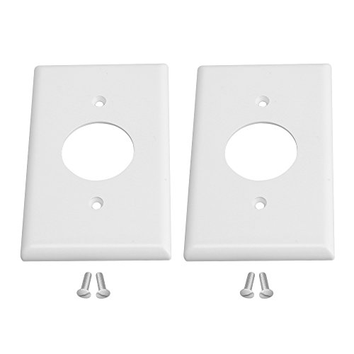 Mxfans 2xWhite Single Gang Electrical Outlet Covers for Deco