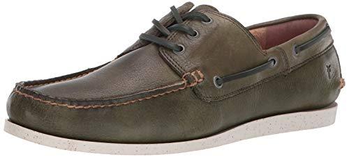 FRYE Men's Briggs Boat Shoe, Green 8 M
