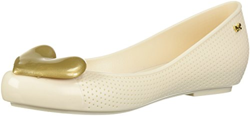 Zaxy Womens New Pop Beauty Ballet Flat Beige/Gold hJYpuLX9y