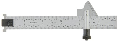 Fowler 52-480-000 Steel Drill Gage Point with Satin Chrome Finish, 8ths, 16ths, 32nds and 64ths Graduations