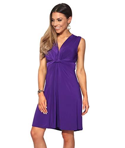 KRISP Knot Front Dress (Purple, ()
