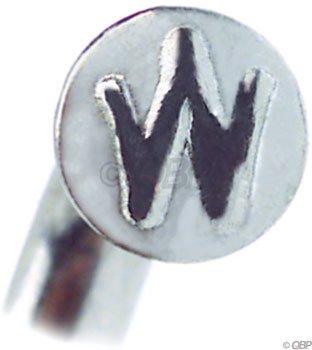 Wheelsmith 2.0 x 310mm silver spoke blanks. Bag of 50.