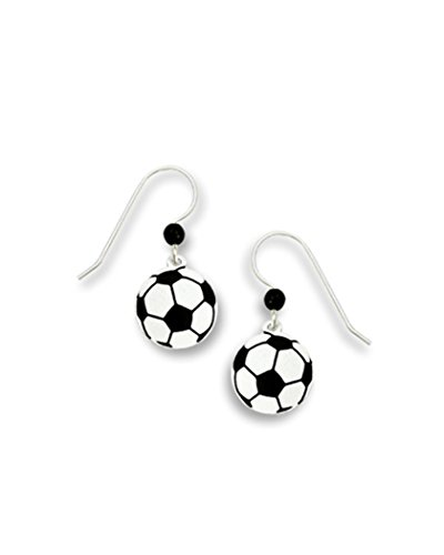 Black & White Soccer Earrings Made in USA by Sienna Sky si1176