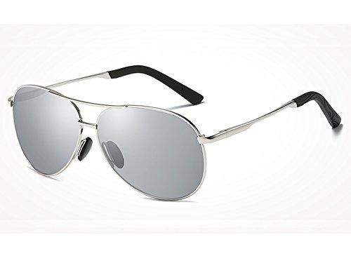 pour de Lunettes Lunettes Polarisées Lunettes Designer Homme des Printemps Sunglasses Soleil Guide Jambes Lunettes de silver TL Soleil Hommes Lunettes 8x7wT