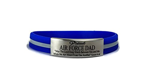 AIR FORCE DAD Engraved Bracelet by Love and Honor Bracelets