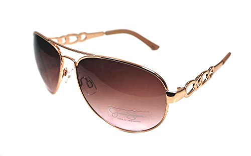 Jessica Simpson Metal Rose Gold/ Pink Aviator J5399-RGLD Womans Sunglasses