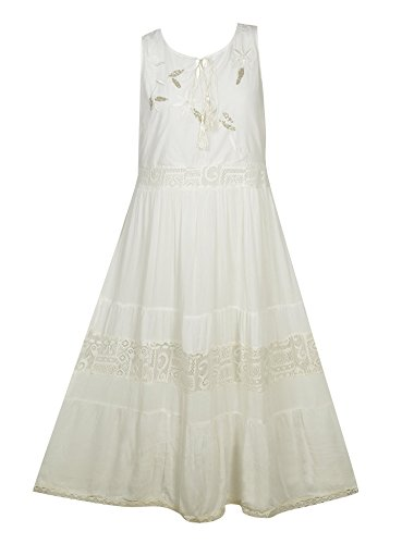 Plus Size White Wear Maxi Dress --Size: 1x Color: White