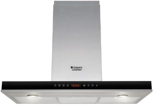 Hotpoint-Ariston HLB 9.8 ASH X/HA - Campana (Aluminio, 1 piezas, 898 mm, 506 mm, 700 mm, Halógeno) Acero inoxidable: Amazon.es: Grandes electrodomésticos