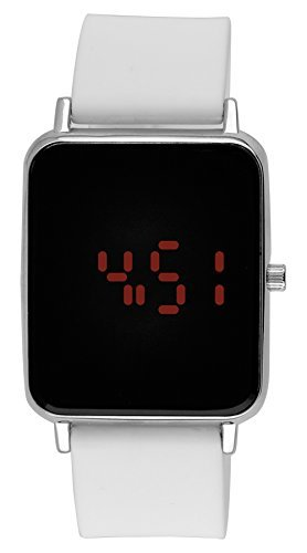 Moulin Unisex Digital One-Touch Silicone White Watch #3388.75749