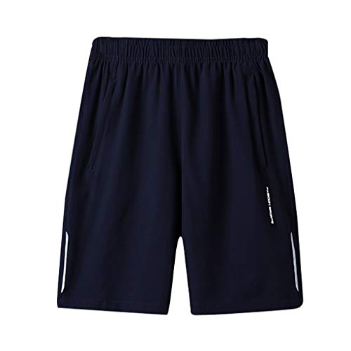 【2019 New】Men's Elastic Waist Shorts,Summer Sport Drawstring Fast-drying Beach Pants Performance Shorts