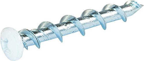 1/4 x 1 1/2 Phillips Pan Wall-Dog Light Duty Anchors White - Box (100) by Stanley Black and Decker (Powers Fastener)