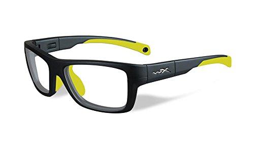 Wiley X Prescription Lenses (Wiley-X Designer Eyeglasses WX Crush YFCRS04 in Matte Grey / Neon Yellow 52mm DEMO LENS)
