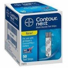 Bayer Contour Next Blood Glucose Test Strip 50ct, No Codi...