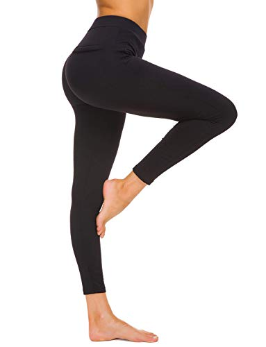 Bamans Fleece Lined Leggings for Women High Waist - Thick Leggings Stretchy Slimming Winter Warm Thermal Pants