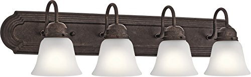 4 Light Bronze Tannery - Kichler Lighting 5338TZS Four Light Bath, Tannery Bronze