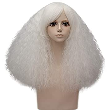 Amazon.com: COOLSKY Women Short Fluffy Curly