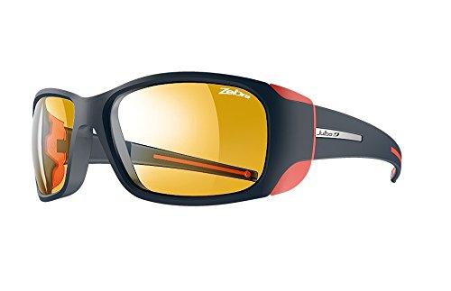 Julbo Monterosa Sunglasses - Zebra - Dark Blue/Coral
