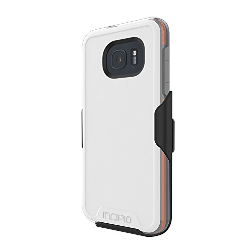 Samsung Galaxy S7 Edge case, Incipio [Performance Series] Level 4, Ultra-Rugged Drop Protection Polycarbonate-Shell Scratch-Resistant Hybrid Cover - White/Orange
