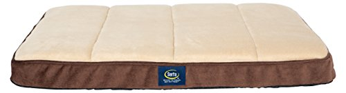 Serta Ortho Quilted Memory Foam Crate Mat, Medium, Mocha