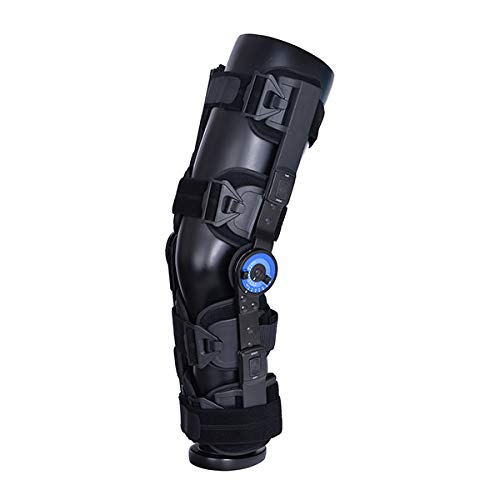 Knee Brace- Knee ROM Brace, for Post Op Care, Adjustable Hinged Knee Brace for After Surgery(Right) ()