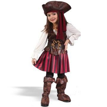 High Seas Pirate Costume - Toddler Large (Pirate Costume For Toddler Girl)