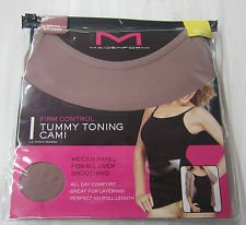 Maidenform Firm Control Tummy Toning Cami, Sz Small, Spicy Bronze