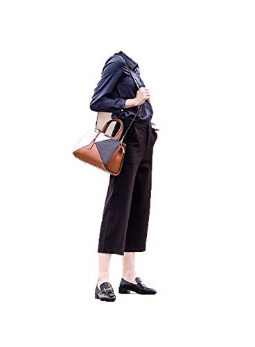 spalla obliqua in borsa donna libero Borsetta tempo Black pelle 7qT4wHxg