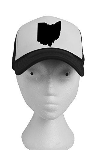 Adjustable snapback trucker hat two tone summer mesh cap baseball United States (Ohio-B&W) (Party City Richardson)