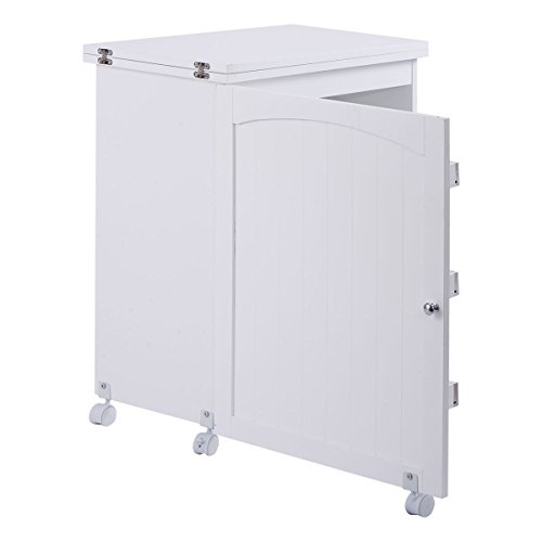 white folding swing craft table shelves storage cabinet home furniture w wheels ebay. Black Bedroom Furniture Sets. Home Design Ideas