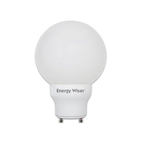 Globe Compact Fluorescent Light Bulb - Bulbrite CF15G25/GU24 15Watt Twist and Lock Compact Fluorescent Globe Bulb