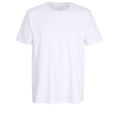 Bugatti Herren T-Shirt, Kurzarm, Baumwolle, Single Jersey, weiß, Uni, 2er Pack 5
