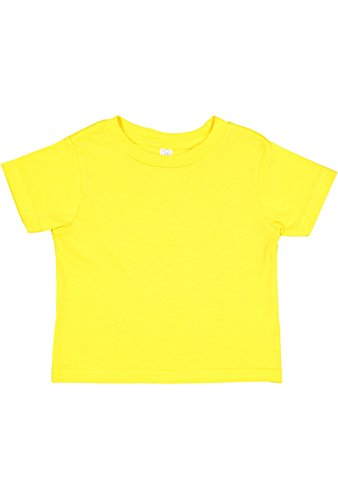(Rabbit Skins Infant 100% Cotton Jersey Short Sleeve Tee (Yellow, 6 Months))