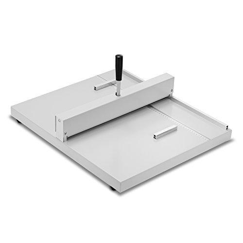 Happybuy Creasing Machine 18 Inch 460 mm Desktop Paper Card Creaser Scorer Heavy Duty Metal Paper Creaser for Paper Card Book Scoring (Manual Creaser)