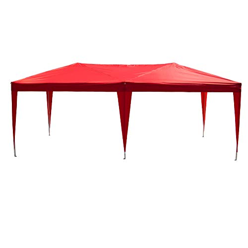 Polar Aurora New 10' X 20'Outdoor Easy Pop up Canopy Wedding Party Tent (Red) ()