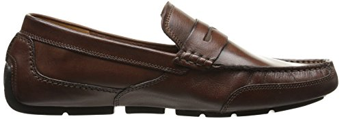 Clarks Men's Ashmont Way Slip-On Loafer Cognac Smooth Leather 6LUAfn