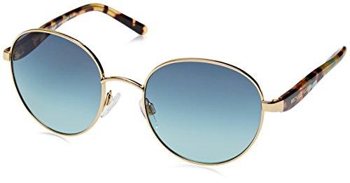 Michael Kors Women's Sadie III Sunglasses, Gold/Teal Gradient, One - Michael 3 Kors