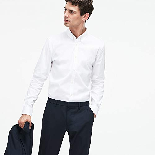 001 Chemise Business Homme Blanc Lacoste white nX8pqqT