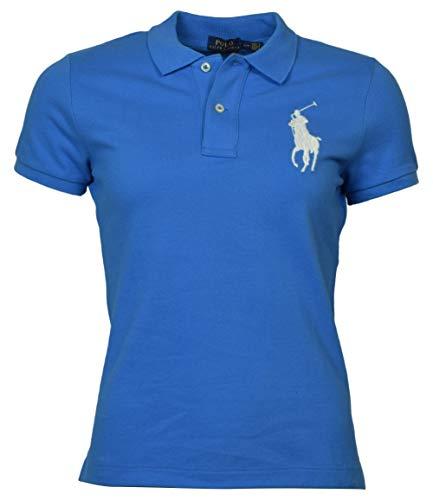 Polo Ralph Lauren Womens Skinny Big Pony Polo (XS, Coblt Blue) ()