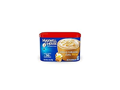 Maxwell House International Coffee Vanilla Caramel Latte, 8.7-Ounce Cans (Pack of 4) from Maxwell House