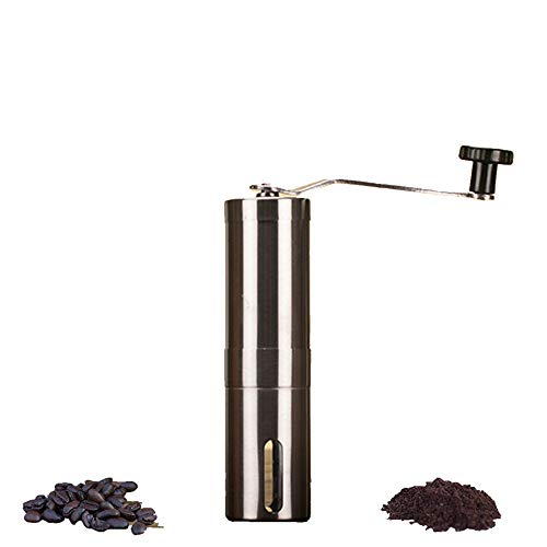 Coffee Grinder Conical Burr Mill Stainless Steel Manual Coffee Beans Grinder Adjustable Ceramic Core and Coarse Fine For Sale