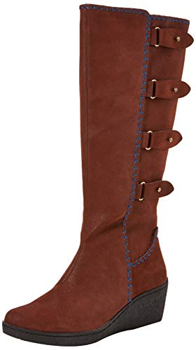 Madison Boots A Joe Alti Wedge burgundy Rosso Browns Donna Stivali Sww5tUq