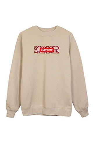 SUPREME Sweatshirt Beige Pulli Pullover Sweater schlangenmuster rot