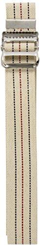Medline Transfer Belts Natural, Blue/Red Stripes, 60 Inch