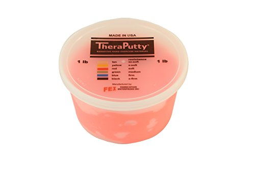 CanDo TheraPutty Plus Anti microbial Red