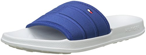 Tommy Hilfiger Mens Corporate Flag Pool Side Flip Flops, White White