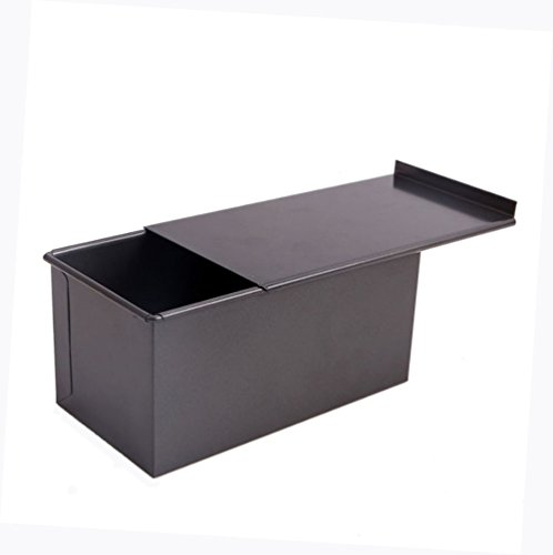 NEESHOW Carbon Steel Mold Nonstick For Cake Or Toast Making With A Lid-Black
