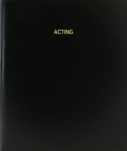 BookFactory® Acting Log Book / Journal / Logbook - 120 Page, 8.5