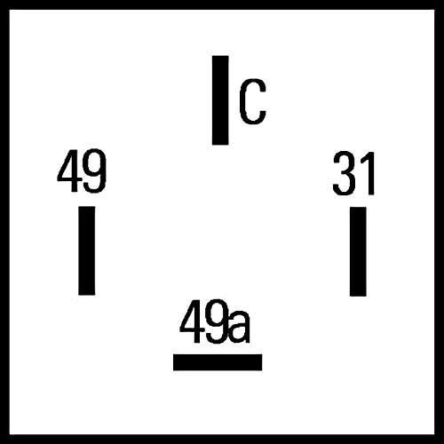 HELLA 4DW 009 492-111 Blinkgeber mit Halter 12V